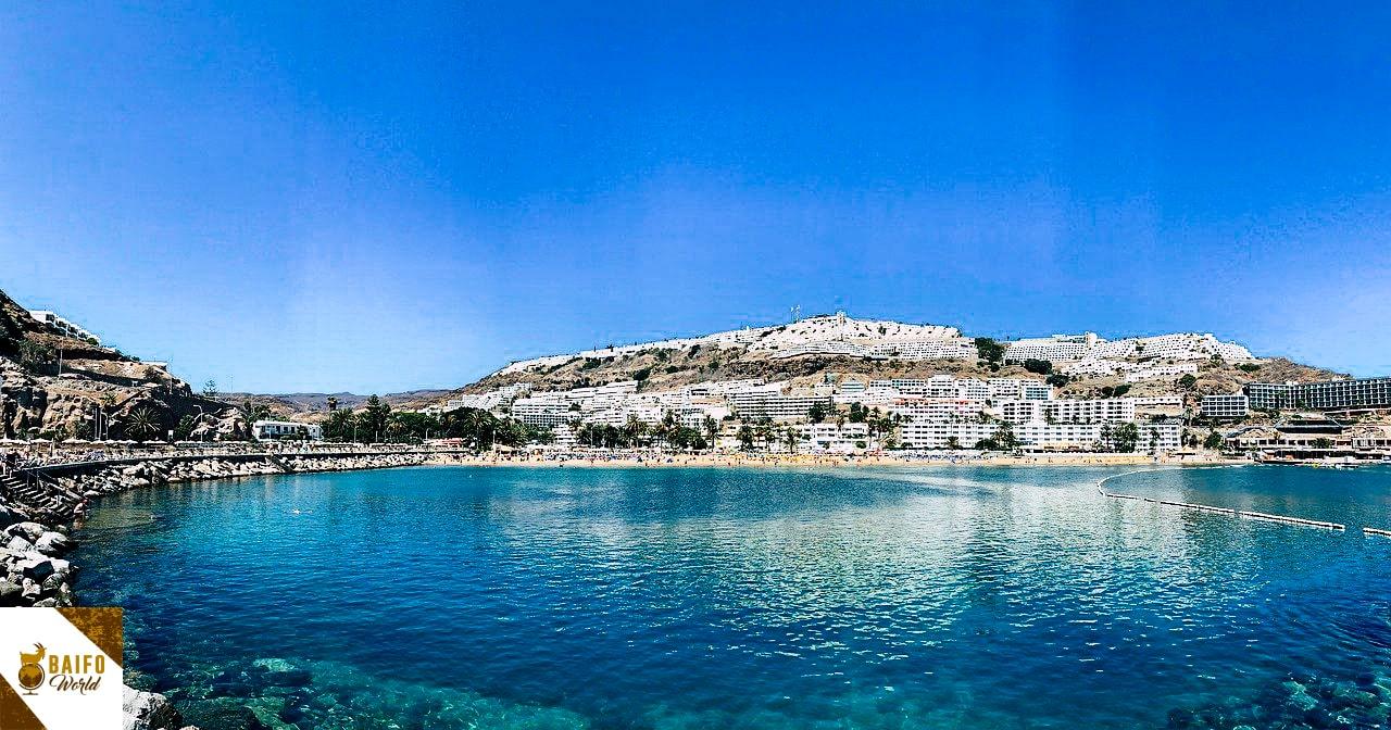 Playa puerto rico arena dorada Gran Canaria Canarias