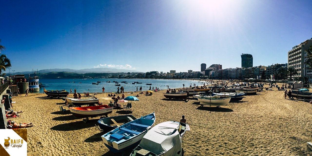 playa de las canteras Gran Canaria Canarias